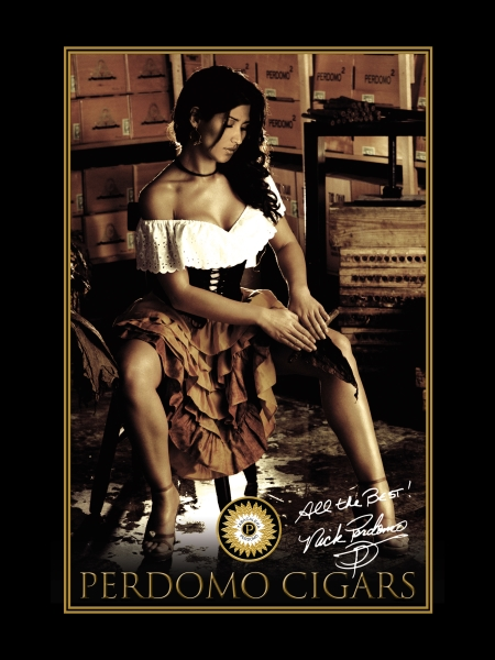 Perdomo Cigars Rolling Girl